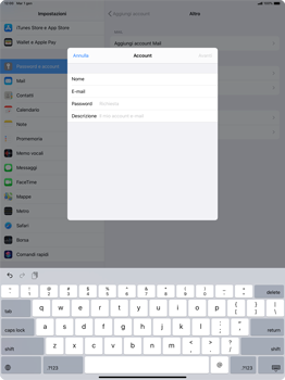 Apple iPad Pro 12.9 (2018) - ipados 13 - E-mail - configurazione manuale - Fase 8