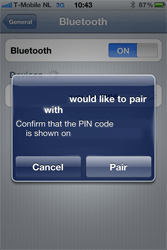 Apple iPhone 3G S - Bluetooth - Pair with another device - Step 7