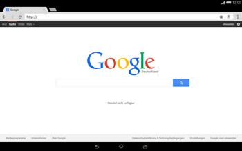 Sony Xperia Tablet Z2 LTE - Internet und Datenroaming - Verwenden des Internets - Schritt 12
