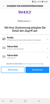 Samsung Galaxy A8 Plus (2018) - E-Mail - Konto einrichten (yahoo) - Schritt 10