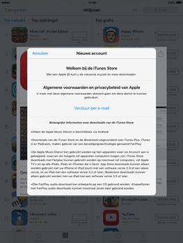 Apple iPad mini met iOS 9 (Model A1455) - Applicaties - Account aanmaken - Stap 9