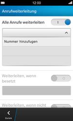 BlackBerry Z10 - Anrufe - Rufumleitungen setzen und löschen - Schritt 9