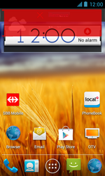 ZTE Blade III - Getting started - Installing widgets and applications on your start screen - Step 8
