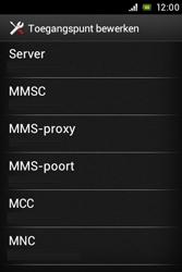 Sony ST23i Xperia Miro - MMS - handmatig instellen - Stap 11