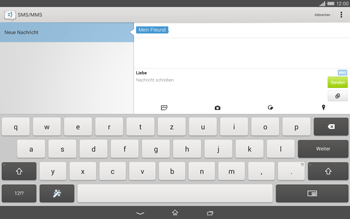 Sony Xperia Tablet Z2 LTE - MMS - Erstellen und senden - 15 / 22