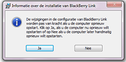 BlackBerry Z30 - software - pc suite installeren - stap 10