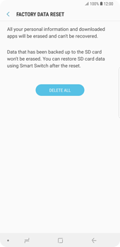 Samsung Galaxy Note9 - Mobile phone - Resetting to factory settings - Step 8