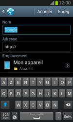 Samsung S7710 Galaxy Xcover 2 - Internet - Navigation sur Internet - Étape 7