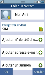 Samsung Wave 723 - Contact, Appels, SMS/MMS - Ajouter un contact - Étape 6