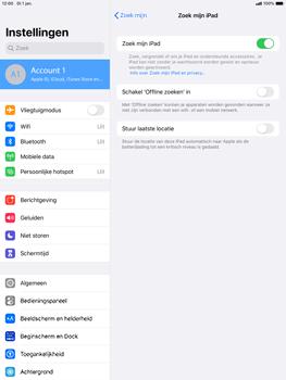 Apple ipad-pro-10-5-inch-met-ipados-13-model-a1709 - Beveiliging en ouderlijk toezicht - Zoek mijn iPad inschakelen - Stap 10
