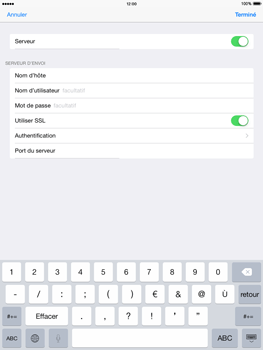 Apple iPad Air iOS 8 - E-mail - configuration manuelle - Étape 22