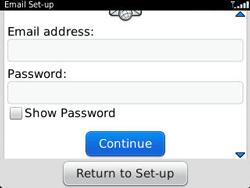 BlackBerry 9320 Curve - E-mail - Manual configuration - Step 8
