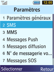 Samsung S5610 Primo - SMS - configuration manuelle - Étape 5