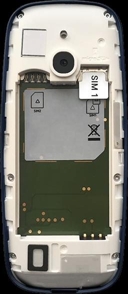 Nokia 3310 - Premiers pas - Insérer la carte SIM - Étape 4