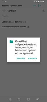 LG v40-thinq-lm-v405ebw - E-mail - Bericht met attachment versturen - Stap 13