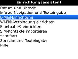 BlackBerry 8520 Curve - E-Mail - Konto einrichten - Schritt 5
