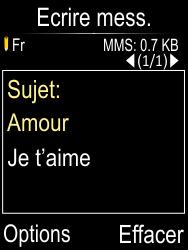 Doro Phone Easy 612 - Contact, Appels, SMS/MMS - Envoyer un MMS - Étape 10