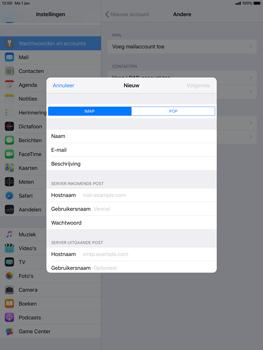 Apple ipad-pro-10-5-inch-ios-12 - E-mail - Account instellen (IMAP met SMTP-verificatie) - Stap 11