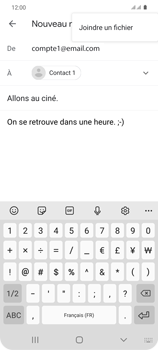 Samsung Galaxy S20 - E-mails - Envoyer un e-mail - Étape 11