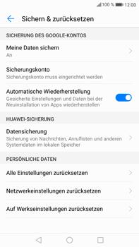 Huawei Mate 9 - Gerät - Zurücksetzen auf die Werkseinstellungen - Schritt 5