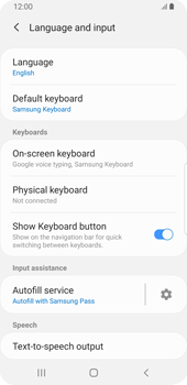 Samsung Galaxy S9 - Android Pie - Getting started - How to add a keyboard language - Step 6