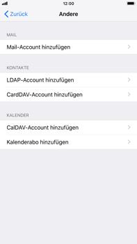 Apple iPhone 8 Plus - iOS 12 - E-Mail - Konto einrichten - Schritt 6