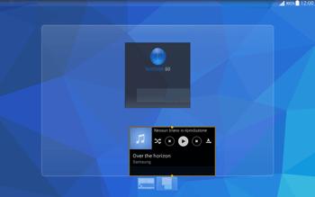 Samsung T535 Galaxy Tab 4 10.1 - Operazioni iniziali - Installazione di widget e applicazioni nella schermata iniziale - Fase 9
