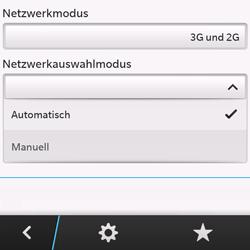BlackBerry Q10 - Netzwerk - Manuelle Netzwerkwahl - Schritt 7