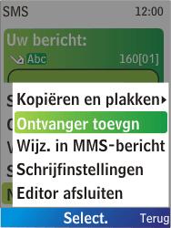 Nokia X2-00 - MMS - Afbeeldingen verzenden - Stap 5