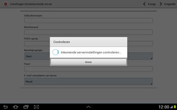 Samsung N8000 Galaxy Note 10-1 - E-mail - e-mail instellen: POP3 - Stap 10