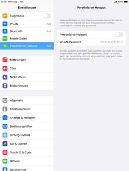 Apple iPad mini (2019) - iPadOS 13 - WiFi - So aktivieren Sie einen WLAN-Hotspot - Schritt 4