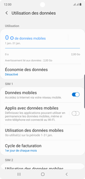 Samsung Galaxy Note 10 - Internet et roaming de données - Comment vérifier que la connexion des données est activée - Étape 7