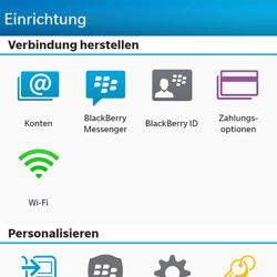 BlackBerry Q10 - E-Mail - Konto einrichten - Schritt 4