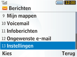 Samsung S3350 Chat 335 - e-mail - handmatig instellen - stap 4