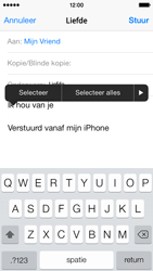 Apple iPhone 5 (iOS 8) - e-mail - hoe te versturen - stap 9