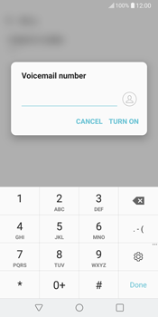 LG V30 - Voicemail - Manual configuration - Step 9