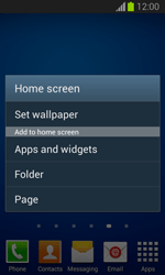 Samsung Galaxy Trend Lite - Getting started - Installing widgets and applications on your start screen - Step 4