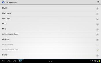 Samsung N8000 Galaxy Note 10-1 - Internet - Manual configuration - Step 13