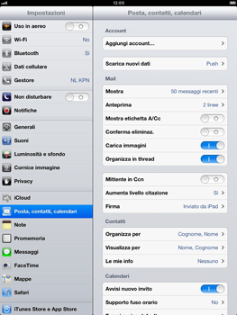 Apple iPad Retina - E-mail - Configurazione manuale - Fase 4