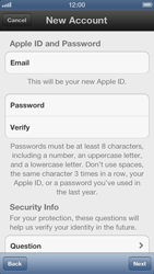 Apple iPhone 5 - Applications - Create an account - Step 8