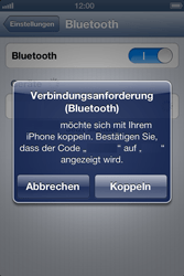 Apple iPhone 4 - Bluetooth - Geräte koppeln - 1 / 1