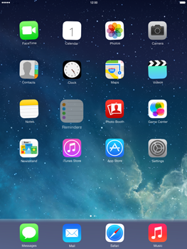 Apple iPad Air - Getting started - Personalising your Start screen - Step 3
