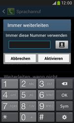 Samsung Galaxy Trend Plus - Anrufe - Rufumleitungen setzen und löschen - 10 / 12