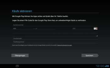 Asus Padfone - Apps - Konto anlegen und einrichten - 14 / 19