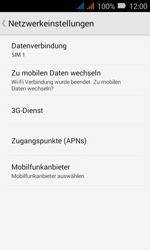 Huawei Y3 - Netzwerk - Netzwerkeinstellungen ändern - 1 / 1