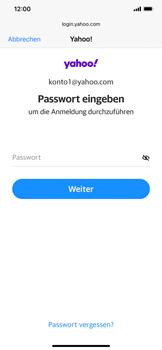 Apple iPhone XS Max - iOS 14 - E-Mail - 032b. Email wizard - Yahoo - Schritt 7