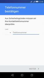 Huawei Y6 - Apps - Konto anlegen und einrichten - Schritt 6