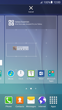 Samsung Galaxy A8 - Getting started - Installing widgets and applications on your start screen - Step 7