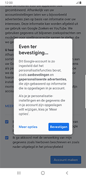 Samsung Galaxy S8+ - Android Pie (SM-G955F) - Applicaties - Account aanmaken - Stap 18