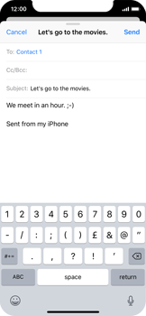 Apple iPhone X - Email - Sending an email message - Step 8
